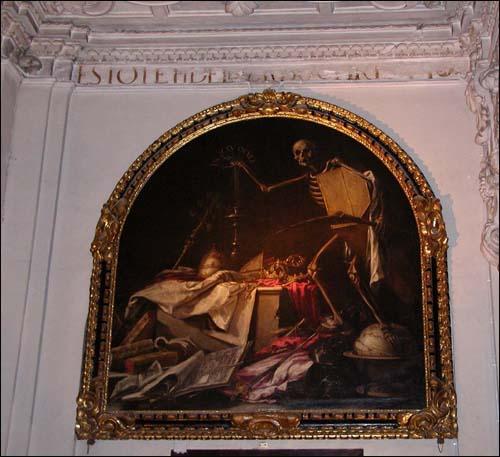 발데스레알의 <인 익투 오쿨리> 라틴어로 '눈을 한번 깜빡이다'라는 의미를 지닌 이 그림은 보는 이로 하여금 압도적인 공포감을 심어주는 동시에 존재의 찰나에 대해 명상케 한다.