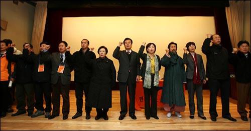 12일 민주노동당은 중앙위원회를 열고 '심상정 비대위'를 출범시켰다.