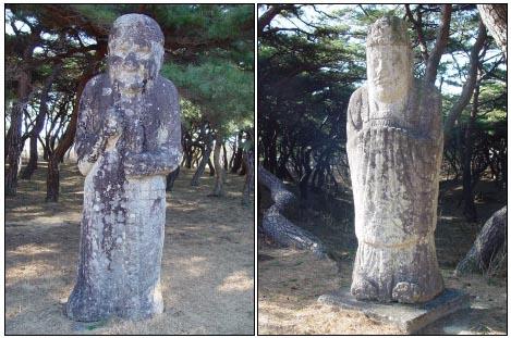 무인석(사진 왼쪽)과 문인석.