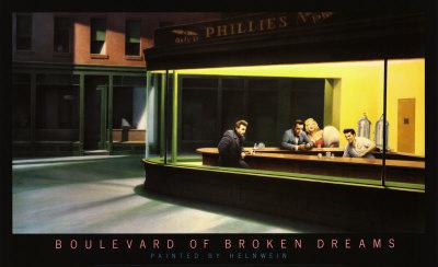 """고트프리드 헬른바인이 나이트 혹스를 패러디하여 그린 """"Boulevard of Broken Dreams"""""""