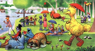 <일요일을 큰 새와 함께(Saturday in the Park with Big Bird)>