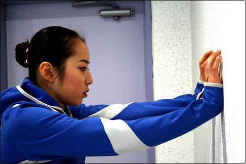 2008 동계체전, 경기를 앞둔 신나희 선수.
