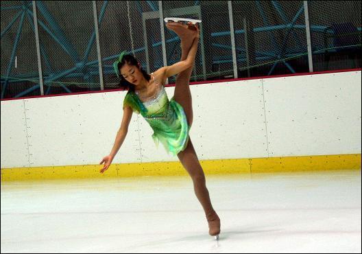 2008 동계체전에서 연기를 펼치는 김나영 선수