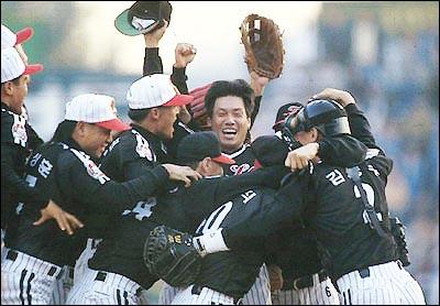 1994년 엘지 트윈스의 우승 1994년 우승을 확정시킨 순간.