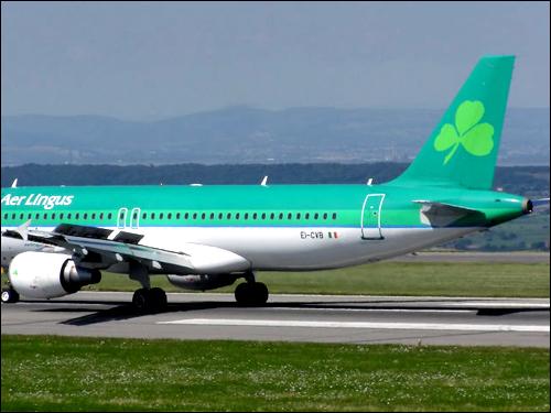 샴록은 아일랜드의 국가적 상징이기도 하다. 사진은 아일랜드의 링거스 항공.