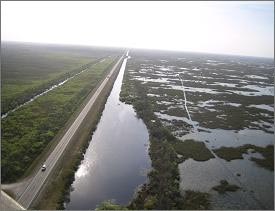플로리다는 원래 습지지역을 운하로 만들면서 생태계 훼손이 광범위하게 발생하였다
