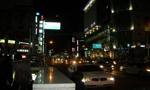 부경대 혹은 경성대 지하철역 아름다운 불빛 거리