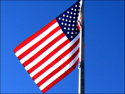 성조기. 13개의 줄은 독립 당시의 13개 식민지를, 50개의 별은 현재의 주를 나타낸다. 간접선거로 치러지는 미국의 대통령 선거는 13개주였던 18세기부터 50개주로 확장된 현재까지 그 틀을 유지하고 있다.