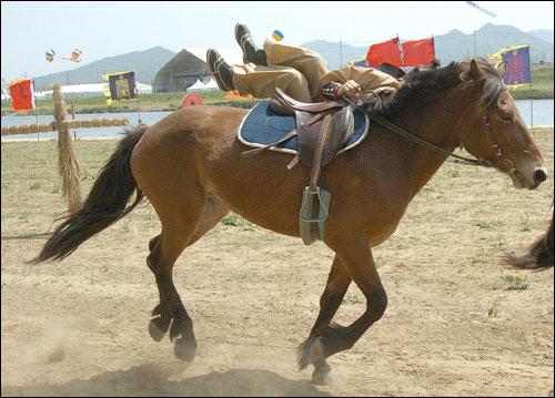 마상재 무과시험이 끝나고 나면 마상무예가 펼쳐지는데, 말 위에서 재주를 부리는 마상재를 포함하여 마상교전에 이르기까지 다양한 무예가 펼쳐진다.