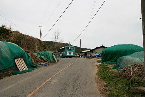 가정마을 풍경 가정마을은 벌가가는 버스 종점이다.