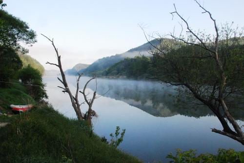 오월의 아침 풍경 한폭의 동양화를 그려놓은 듯한 오월의 운치있는 아침 풍경