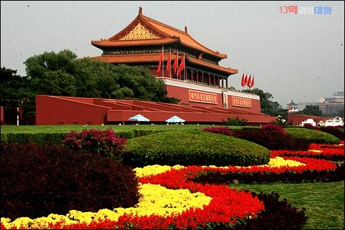 중국발품취재 중 찾은 베이징 천안문광장 앞 고궁 입구