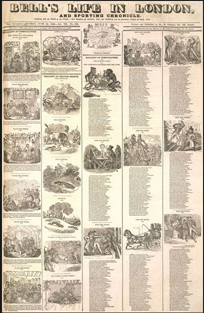 1822년부터 1886년까지 간행된 영국의 주간지 <Bell's Life in London and Sporting Chronicle>에 실린 '매춘부의 편력'