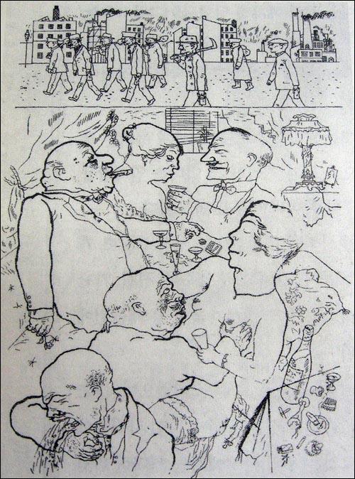 게오르게 그로츠 <아침 5시까지!>, 1921