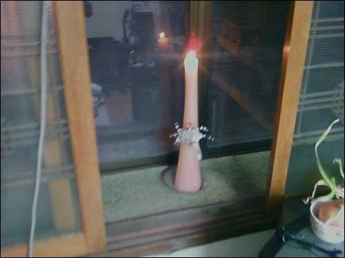 2230님이 보내주신 [엄지뉴스-촛불사진]입니다. 우리 엄마가 집에다가 켜놓았어요