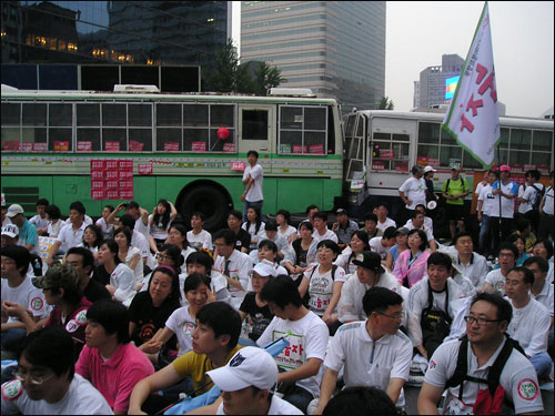 7월 5일 전국에서 올라온 YMCA '눕자 행동단'