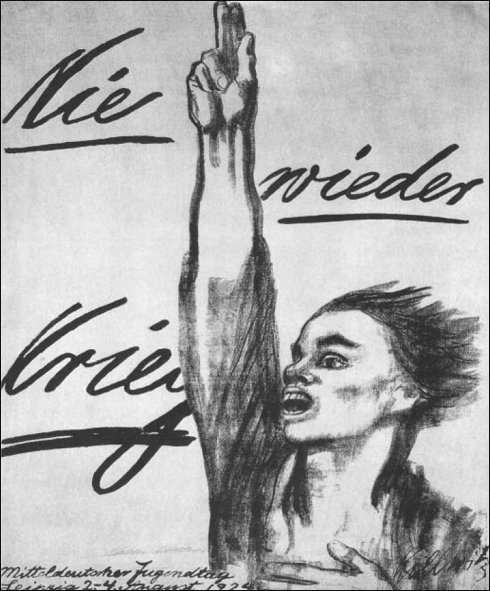 케테 콜비츠 <전쟁은 이제 그만> 1924년에 석판화로 제작되어 독일의 거리 곳곳에 나붙었던 그녀의 반전 포스터들은 반전운동 확산의 촉매 역할을 했다.