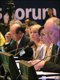 세계 전자정부 시장 포럼 참석자들