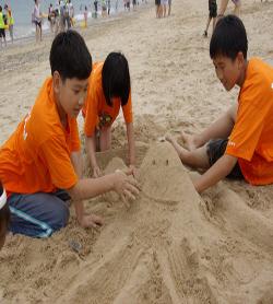 모래성을 만들어요