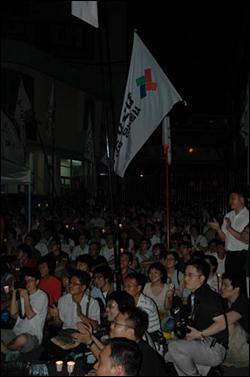 지난 11일 광화문의 촛불이 기륭의 촛불과 만났다