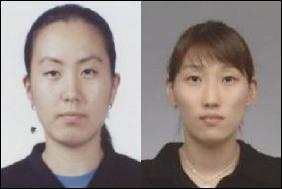 여자복식 결승에서 멋진 승부를 펼친 이경원(왼쪽)과 이효정