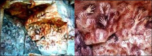 손의 동굴(La cueva de las manos, 아르헨티나 남쪽).