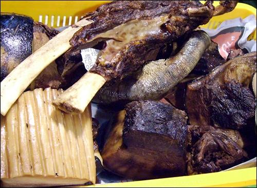고래 고기와 뼈