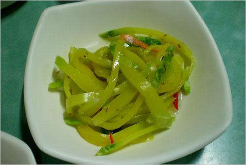 애호박나물 연한 애호박나물