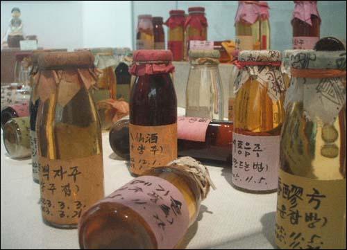 전통술박물관에서 전시된 전통주