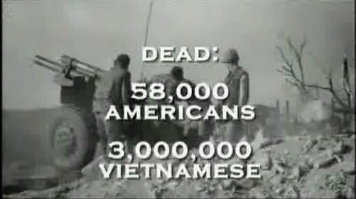 추악한 전쟁에 희생당한 사람들 '전쟁 비즈니스'베트남 전에서 미군은 58,000명, 베트남 인민은 3,000,000명이 희생당하였지요. 이 숫자들은 아프가니스탄에서, 이라크에서 여전히 되풀이 되고 있지요.