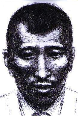 사진속 체포 인물 몽타쥬 상하이범죄수사연구소가 사진속 인물의 윤곽을 바탕으로 그린 몽타쥬다