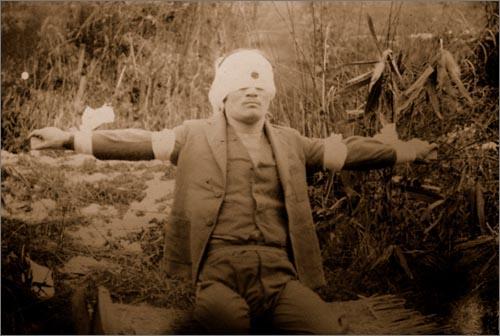 윤봉길 의사의 처형 장면 사진