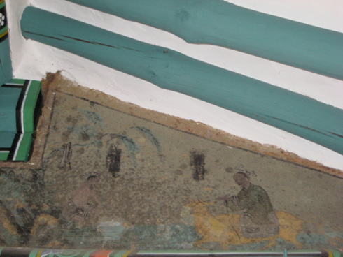 산천재 그림 산천재 현판 옆에 있는 옛 그림 농부가 농사짓는 그림이다.