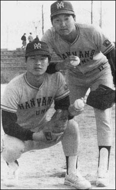 좌대성 우민태 90년대 초, 한양대 선후배인 '좌대성 우민태'는 그대로 국가대표팀의 양날개였고, 90년대 중반 이후에는 한국프로야구의 양날개를 이루었다.