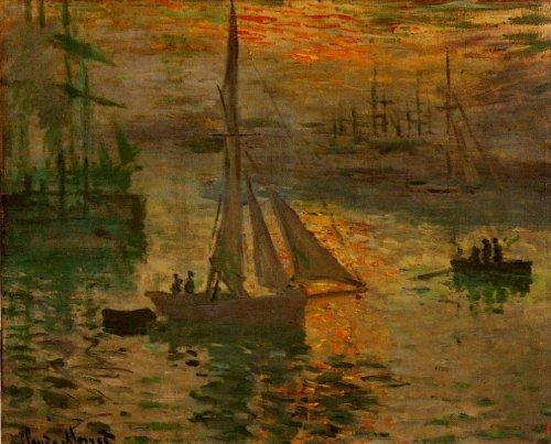 아카의 해뜨는 바다풍경(Sunrise aka Seascape) 아카의 해뜨는 바다풍경(Sunrise aka Seascape), 1873, Private colletion