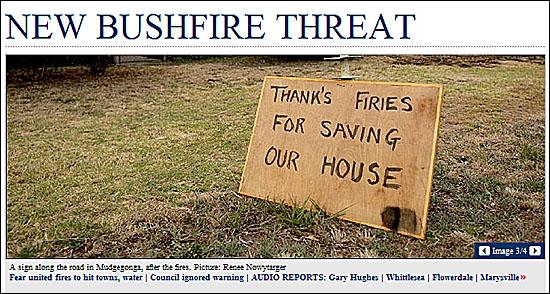 한 주민은 집을 태우지 않아 고맙다고 피켓을 쓰기도 했다.
