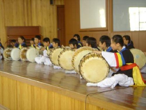 풍물경연대회 교육감배 풍물(사물놀이)경연대회 모습