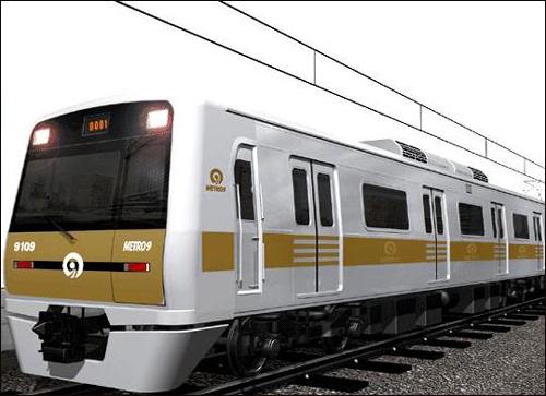 서울지하철 9호선 차량 9호선의 색깔은 기존의 도시철도에서 사용하지 않았던 색깔인 황금색이다. 이는, 노선도에서의 노선 색은 물론, 차량에도 그대로 적용된다.