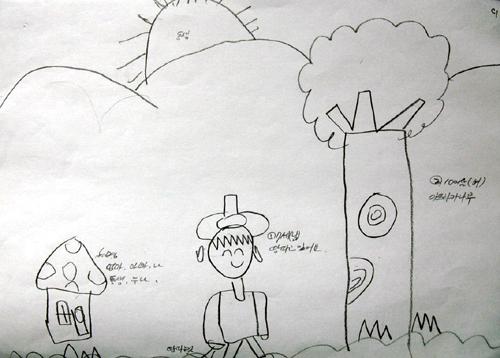 사례 2. 집, 나무, 사람을 표현한 그림