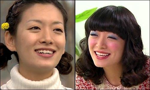 배우 정수영이 연기하는 MBC 드라마 <환상의 커플> '강자'와 <내조의 여왕> '지화자'.