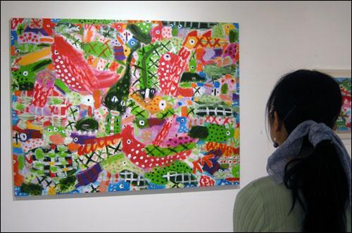 '5월에' 캔버스에 혼합재료 159×220cm 2009