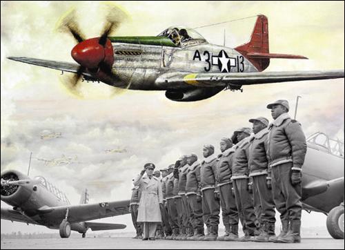 미국 최초의 흑인 전투비행부대 '터스키기 비행대'와 무스탕 비행기. 책을 읽다보면 '프라모델'을 조립하던 어린 시절을 떠올리는 경우도 적지 않다