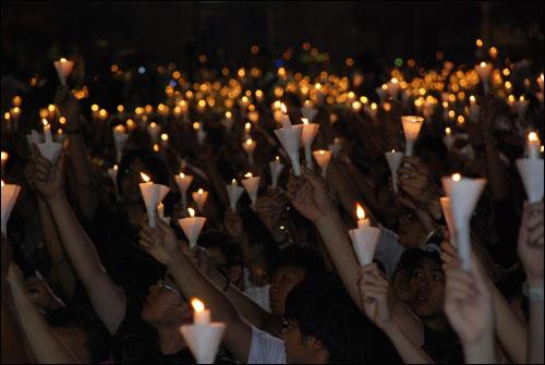 홍콩 촛불시위 전경.