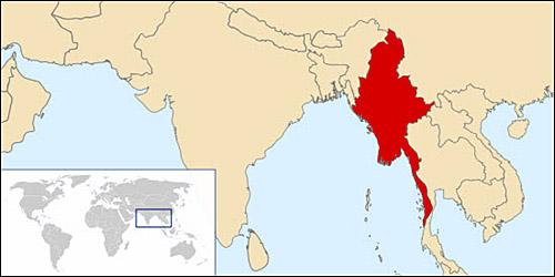 버마 지도 버마는 인도와 중국, 인도차이나반도 사이에 있는 나라로 남한 면적보다 7배 정도 넓다.