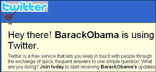 오마마 미국 대통령는 트위터를 선거운동에 활용해 큰 효과를 거뒀다.