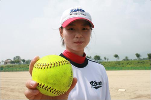 여자 소프트볼 국가대표팀 투수 박수연.