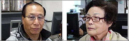 초청작가 채홍숙 씨 (70세) 초청작가 최말남 씨 (74세)