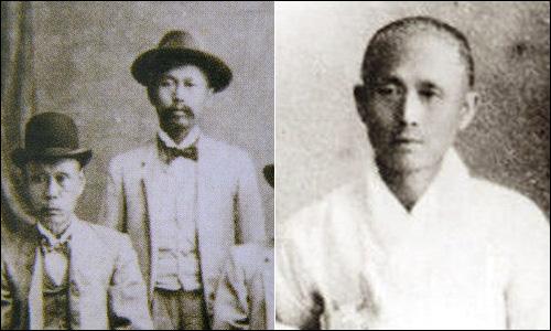 정치인으로 살았던 나인영(좌)과 종교인으로 살았던 나철(우)은 두 인생을 살았던 동일인이다
