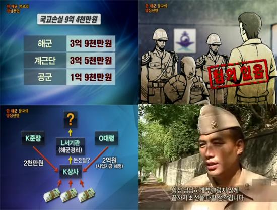 MBC PD수첩, 한 해군장교의 양심선언 PD수첩에서 김영수 소령이 군 내부의 정화시스템 마비를 고발하고 있다.