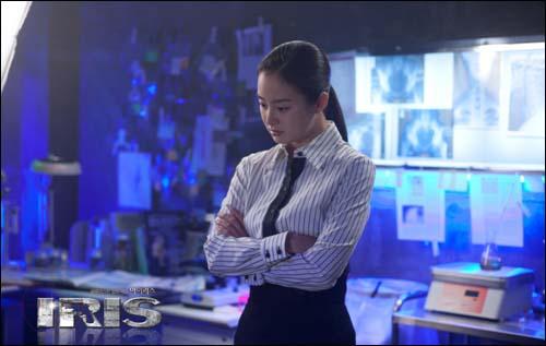 드라마 <아이리스>의 한 장면.